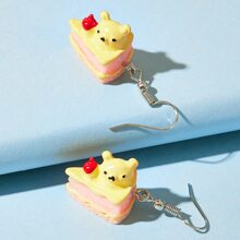 Bear Cake Drop Earrings