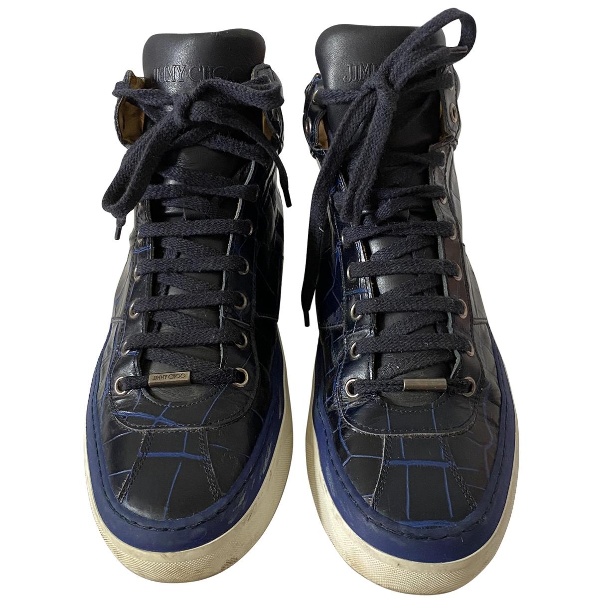Jimmy Choo \N Sneakers in  Marine Leder