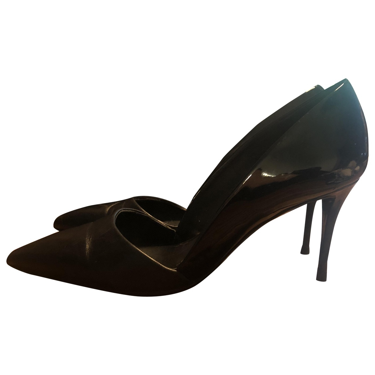 Giuseppe Zanotti \N Black Patent leather Heels for Women 37.5 EU