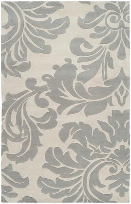 Athena Collection ATH5073-912 Rectangle 9' x 12' Area Rug with Hand Tufting and Wool Material in Grey and Neutral