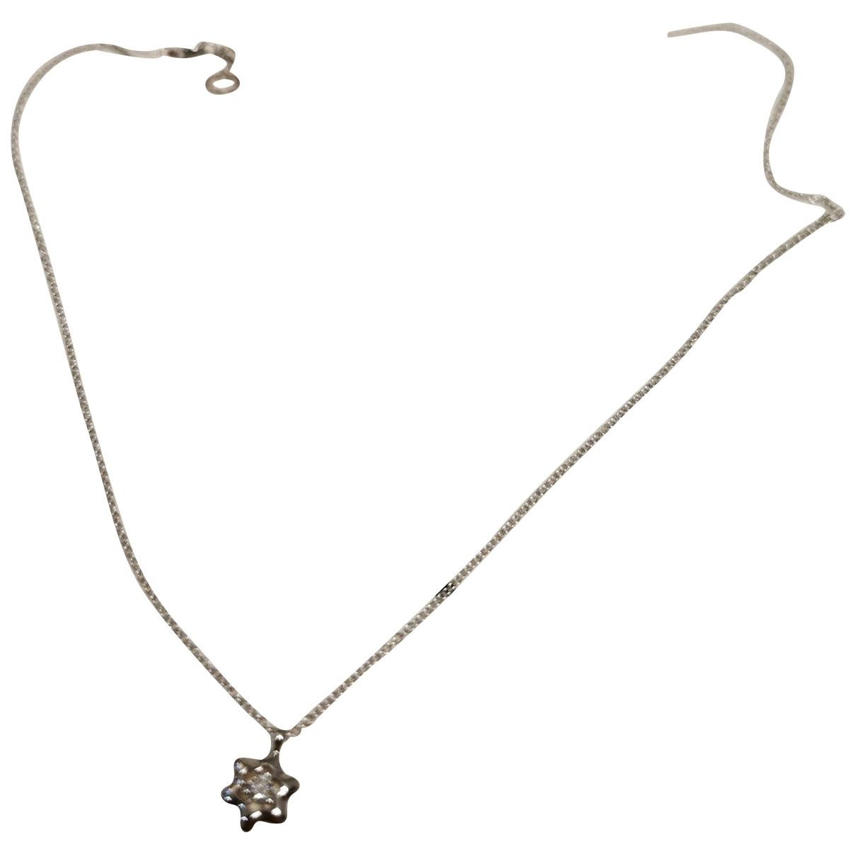 Montblanc - Collier   pour femme en or blanc - argente
