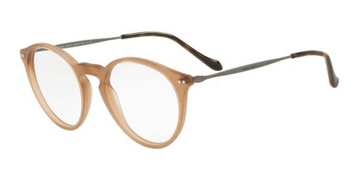 Giorgio Armani AR7164 5717 Men's Glasses Brown Size 49 - Free Lenses - HSA/FSA Insurance - Blue Light Block Available