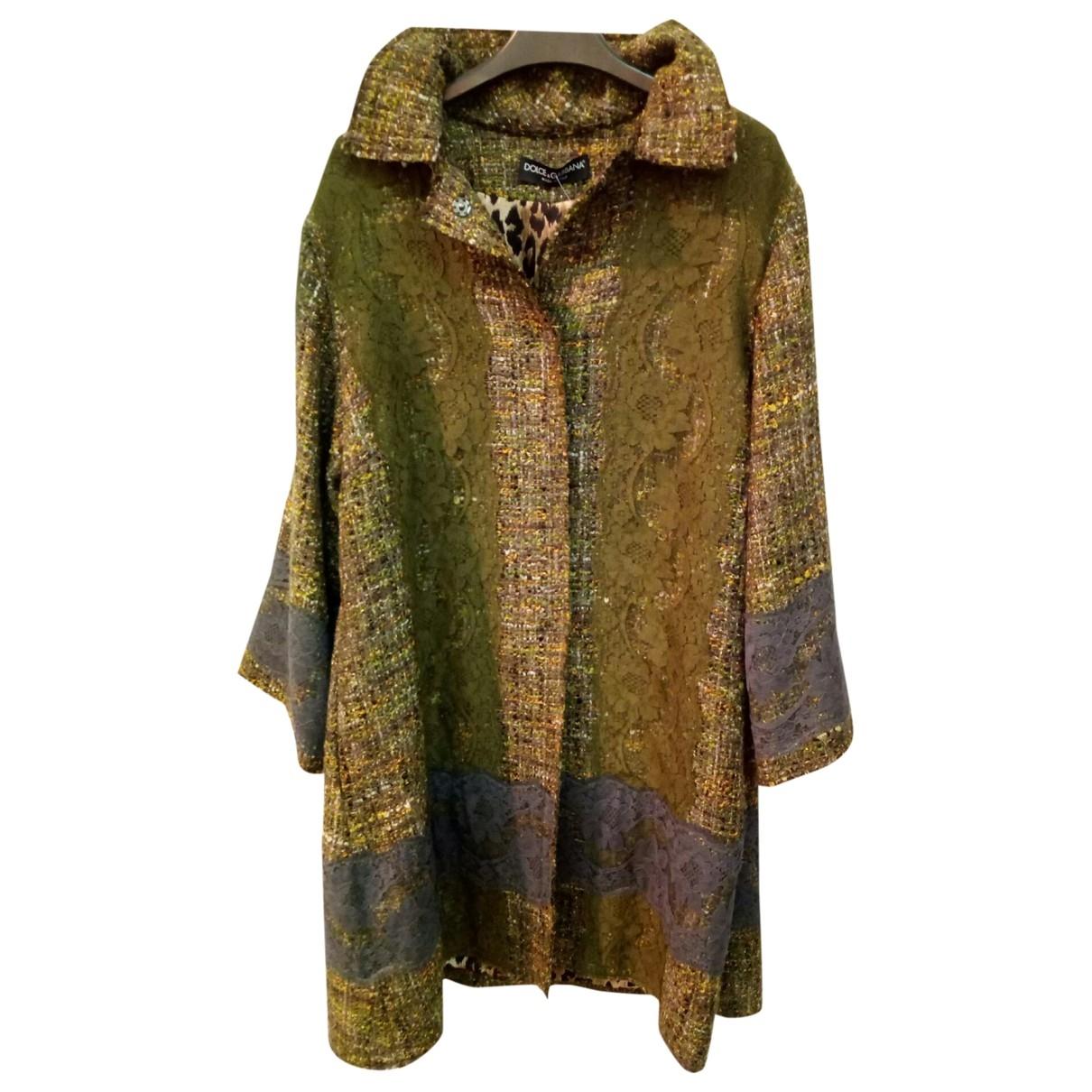 Dolce & Gabbana - Manteau   pour femme en laine - vert