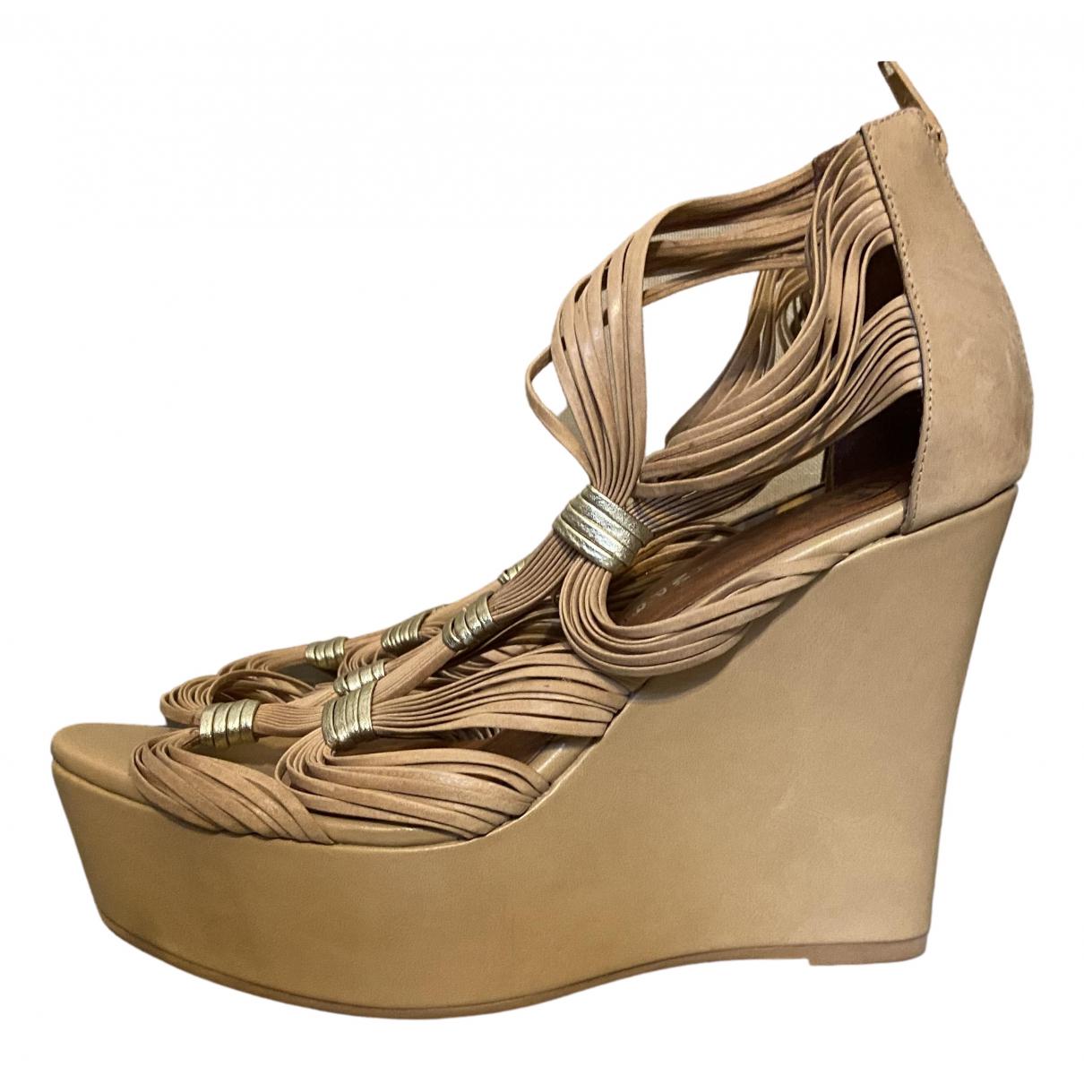 Jeffrey Campbell \N Beige Leather Sandals for Women 40 EU
