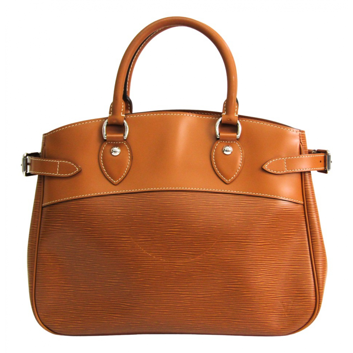 Louis Vuitton - Sac a main Passy pour femme en cuir - marron