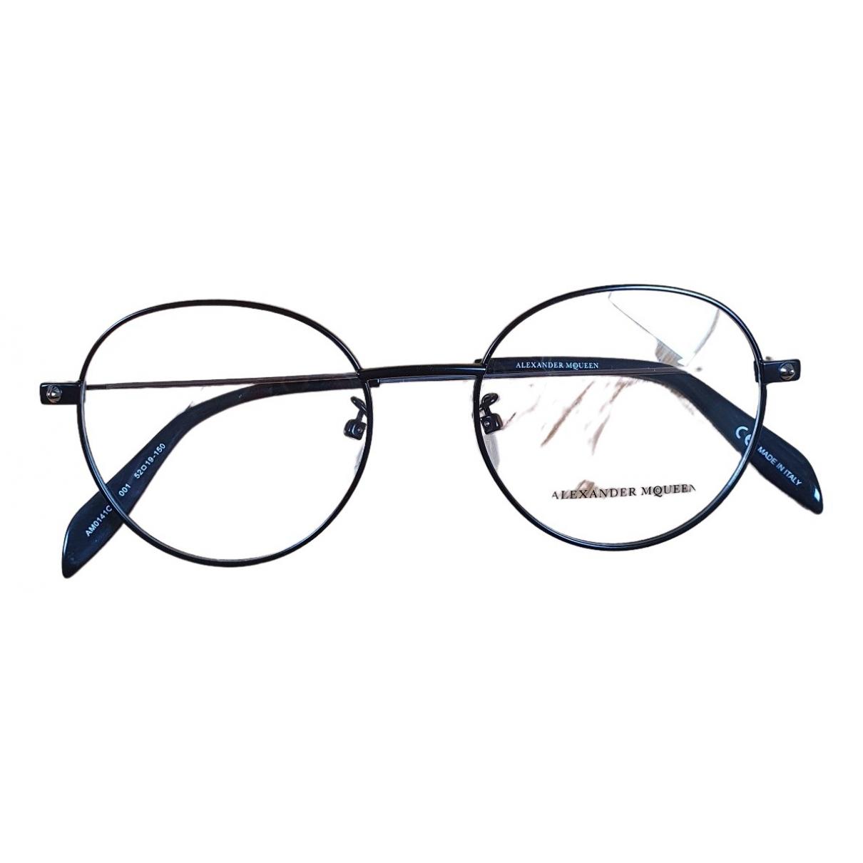 Alexander Mcqueen \N Sonnenbrillen in  Schwarz Kunststoff