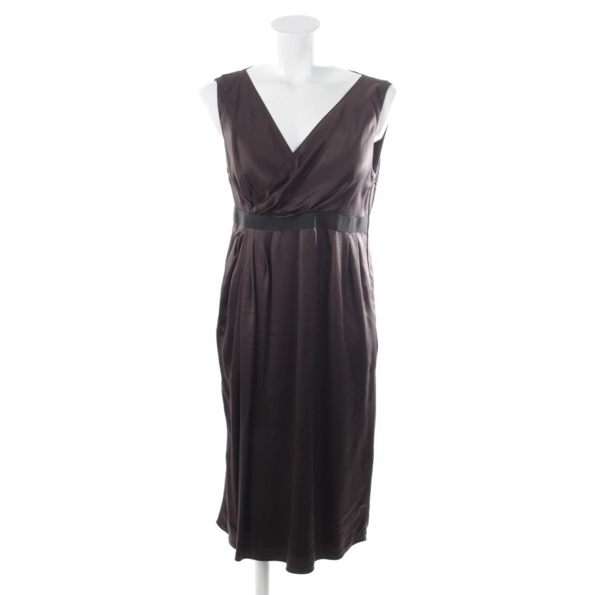 Lanvin \N Kleid in  Braun Seide
