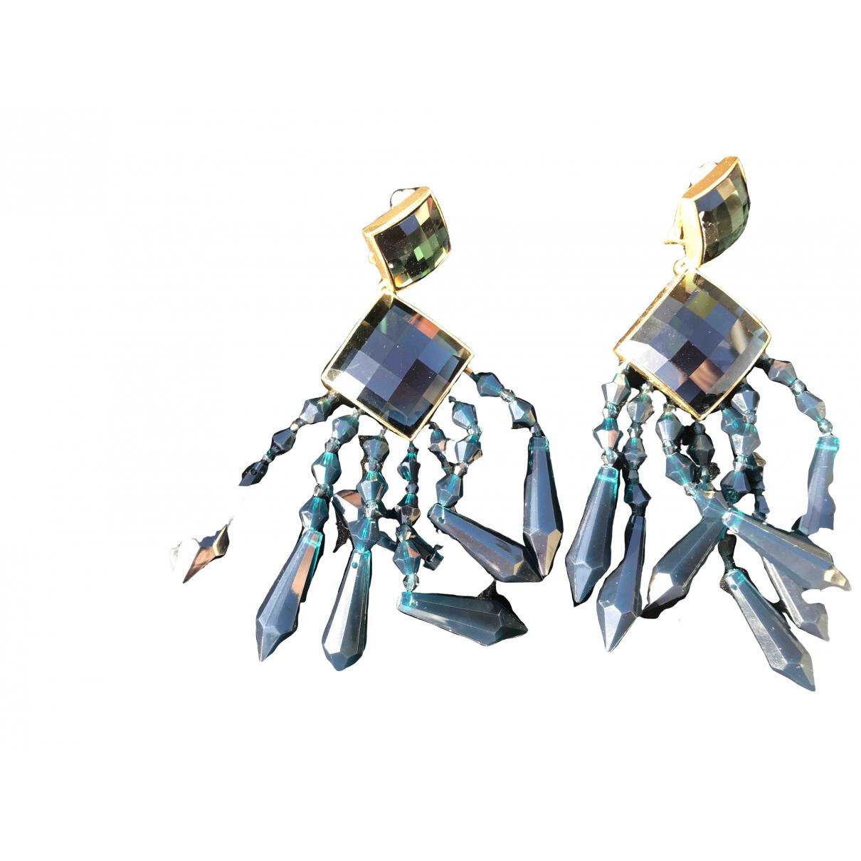 Balmain For H&m \N OhrRing in  Gruen Kunststoff