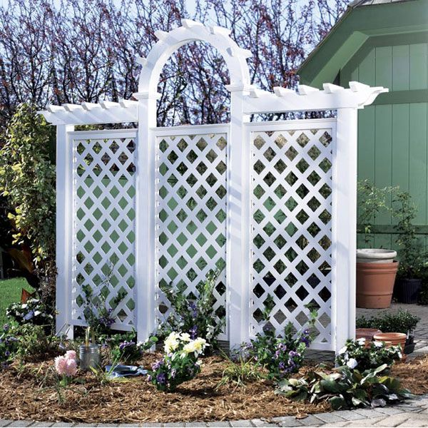 Woodworking Project Paper Plan to Build Arched Trellis