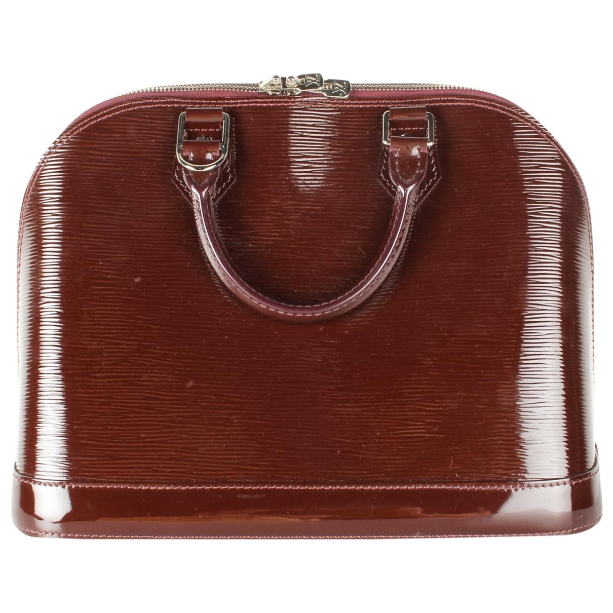Louis Vuitton Alma Handtasche in  Braun Lackleder