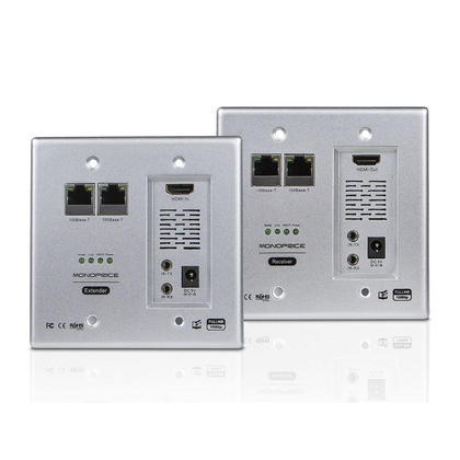 HDBaseT Wall Plate Extender Kit, Up to 328 Feet - Monoprice®