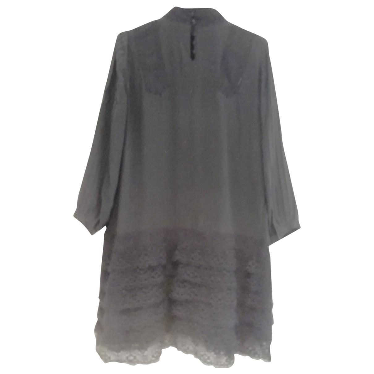 Zara \N Kleid in  Grau Seide
