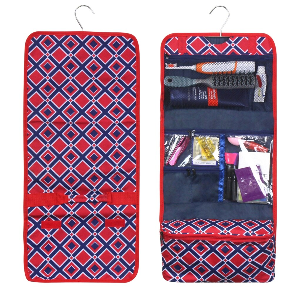 Zodaca Red Times Square Travel Hanging Cosmetic Carry Bag Toiletry Wash Organizer Storage