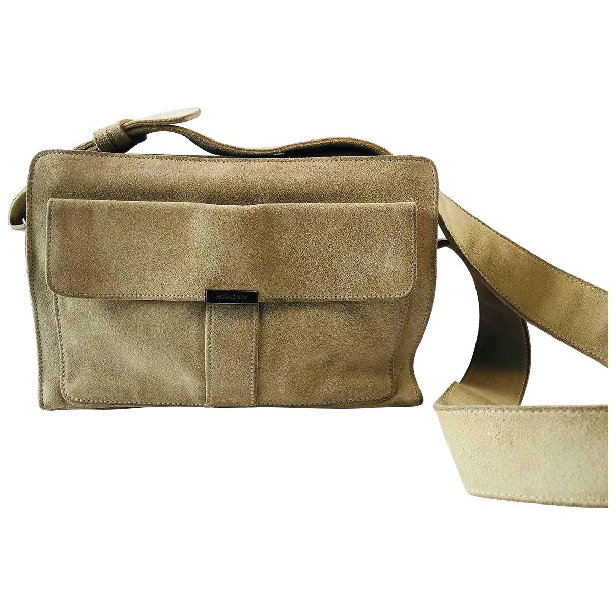 Yves Saint Laurent \N Beige Suede handbag for Women \N