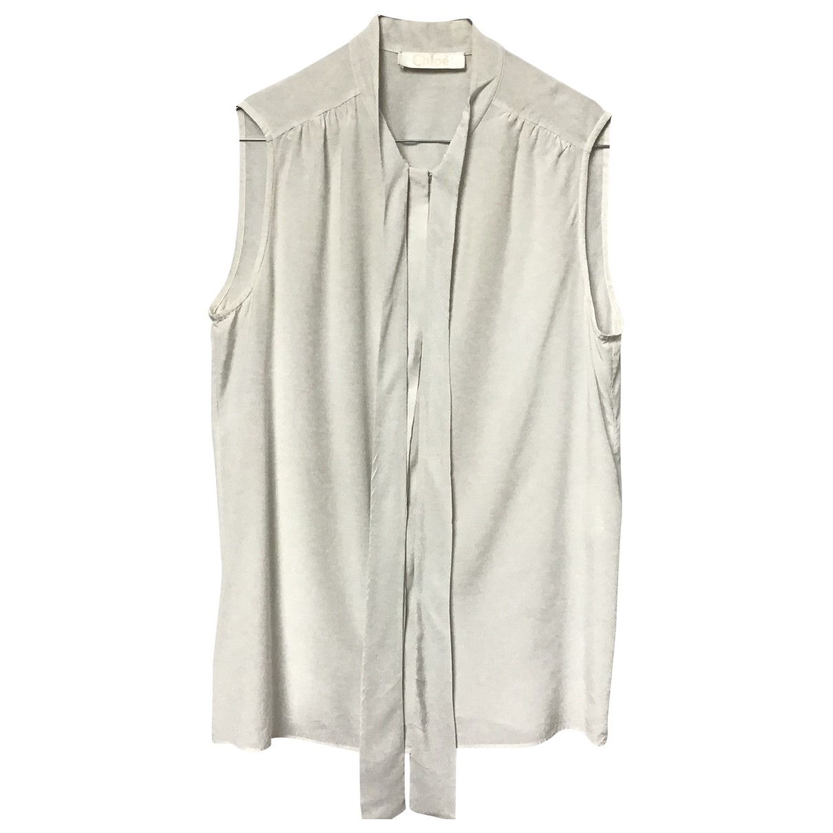 Chloé \N Ecru Silk  top for Women 38 FR