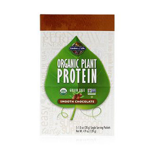 Organic Plant Protein Smooth Chocolate 5 oz by Garden of Life