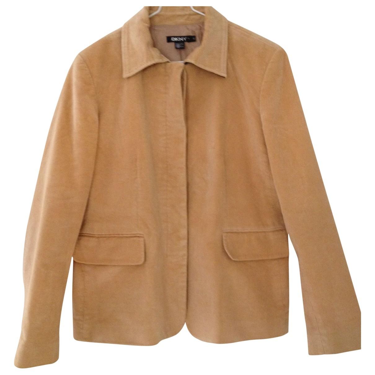 Dkny \N Camel Cotton jacket for Women 12 UK