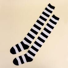 Striped Over The Knee Socks