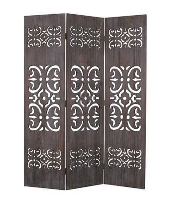 274668 1 x 52 x 67 Brown  3 Panel  Wood -