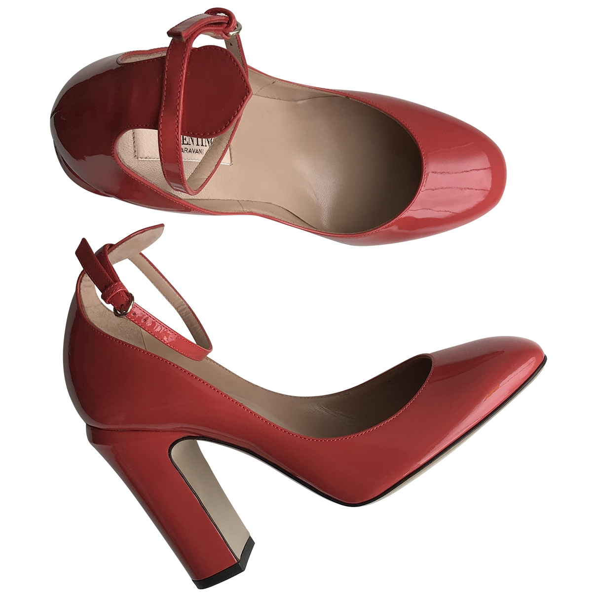 Valentino Garavani Tango Red Patent leather Heels for Women 37 EU