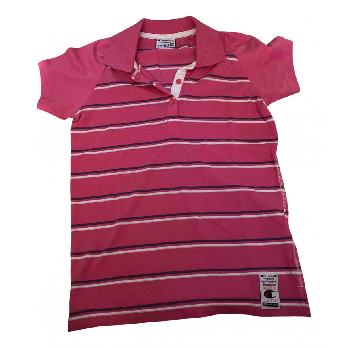 Champion - Top   pour enfant en coton - rose