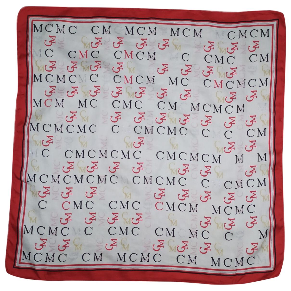 Mcm \N Tuecher, Schal in  Bordeauxrot Baumwolle