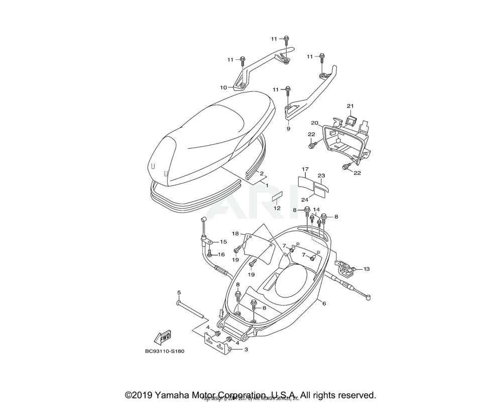 Yamaha OEM 2JS-F473R-00-00 BOX 1