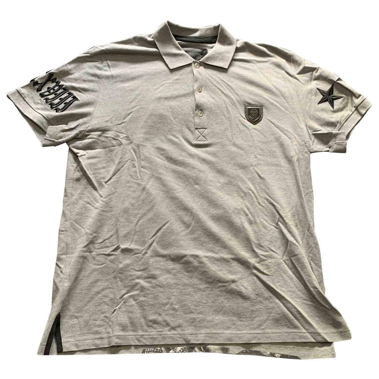 Philipp Plein - Polos   pour homme en coton - gris