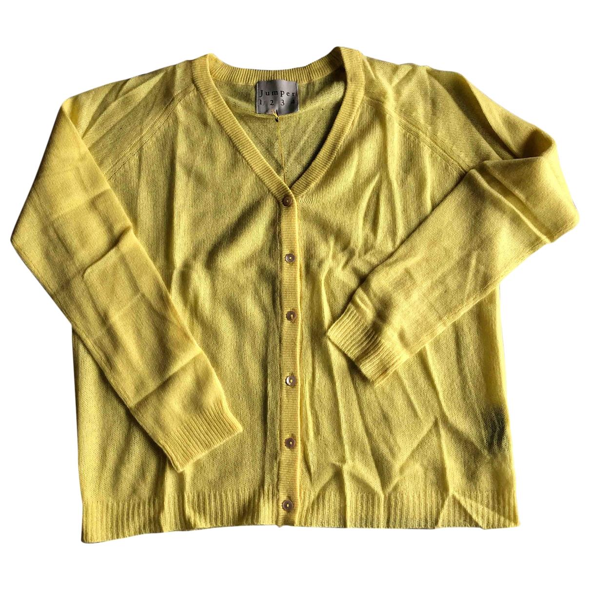 Jumper1234 - Pull   pour femme en cachemire - jaune