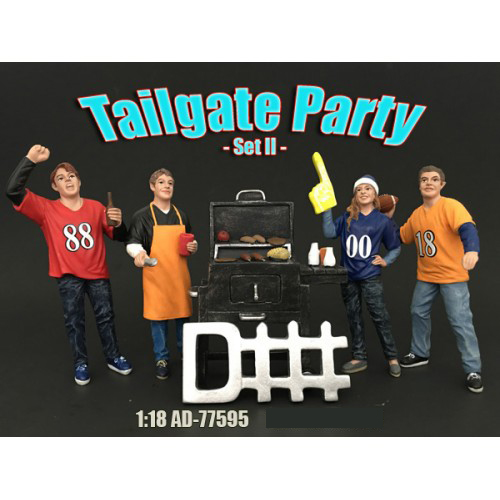 Tailgate Party Set II 4 Piece Figure Set For 118 Scale Models by American Diorama