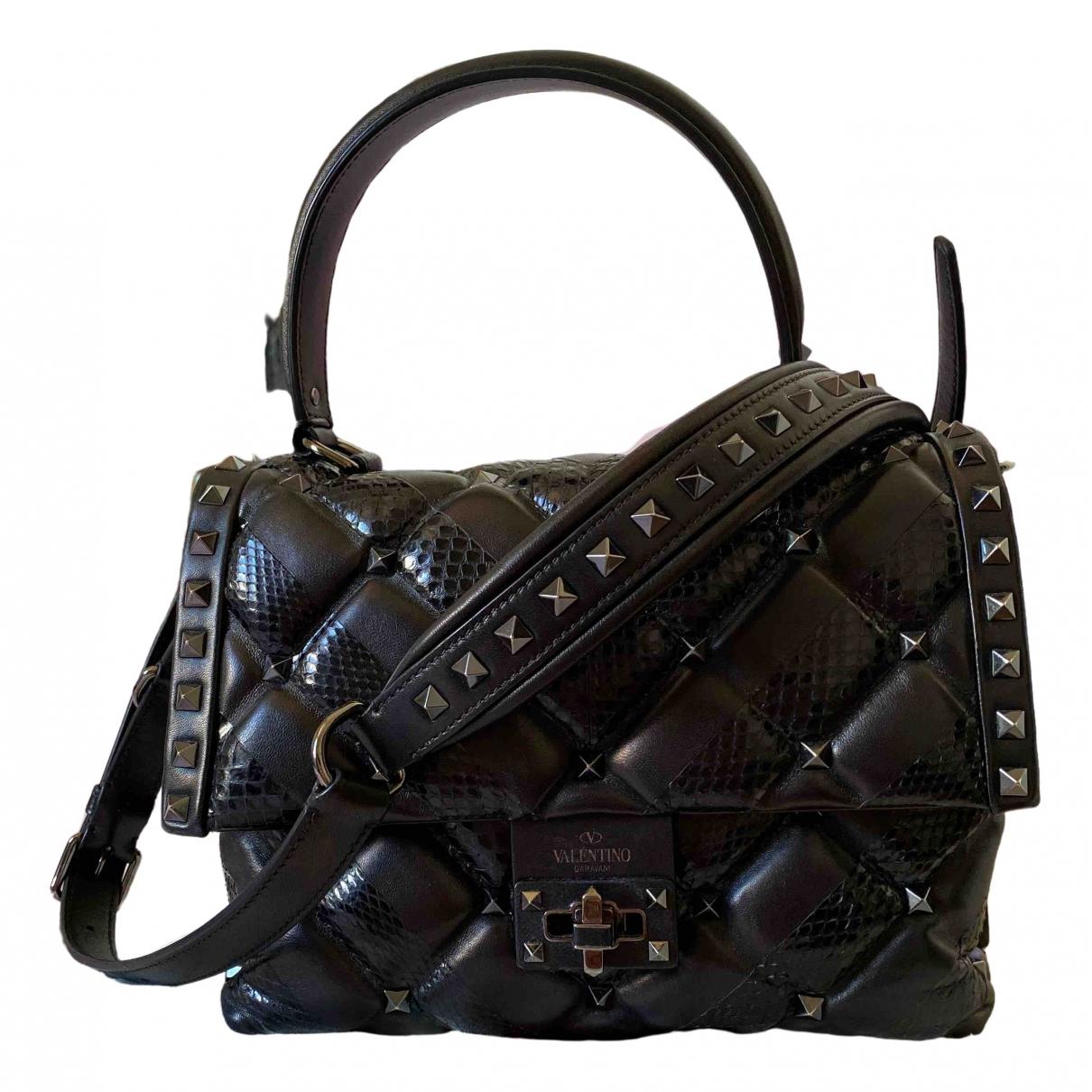 Valentino Garavani - Sac a main CandyStud pour femme en cuir - noir