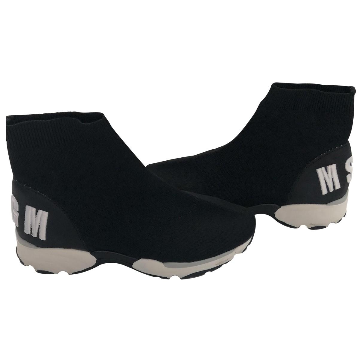 Msgm \N Black Cloth Trainers for Women 37 EU