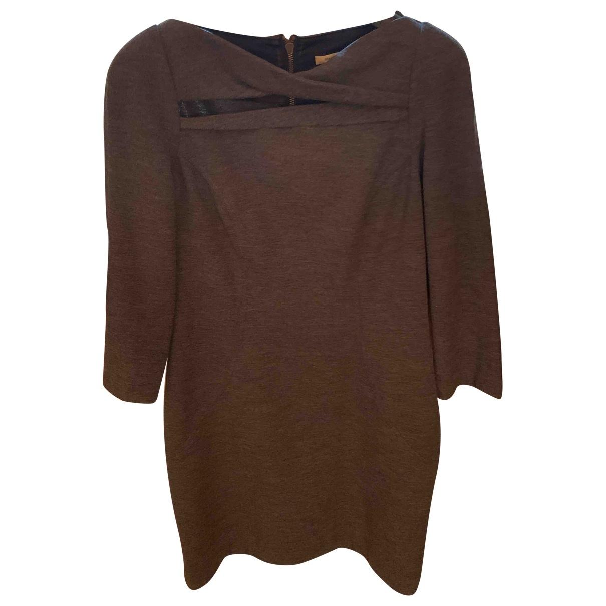 Diane Von Furstenberg \N Grey Wool dress for Women 10 US