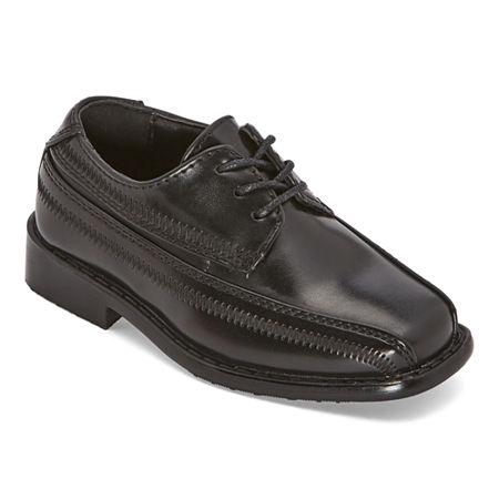 Stacy Adams Boys Bowman Oxford Shoes, 6 Medium, Black