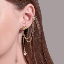 2pcs Rhinestone Star Stud Earrings