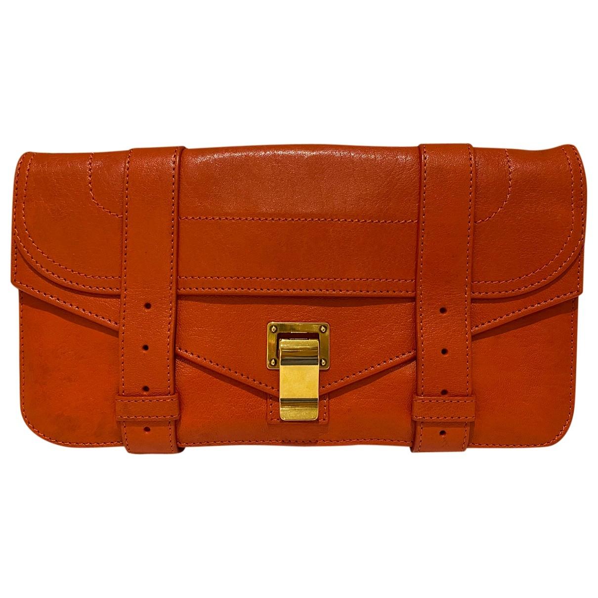 Proenza Schouler - Pochette PS1 pour femme en cuir - rouge