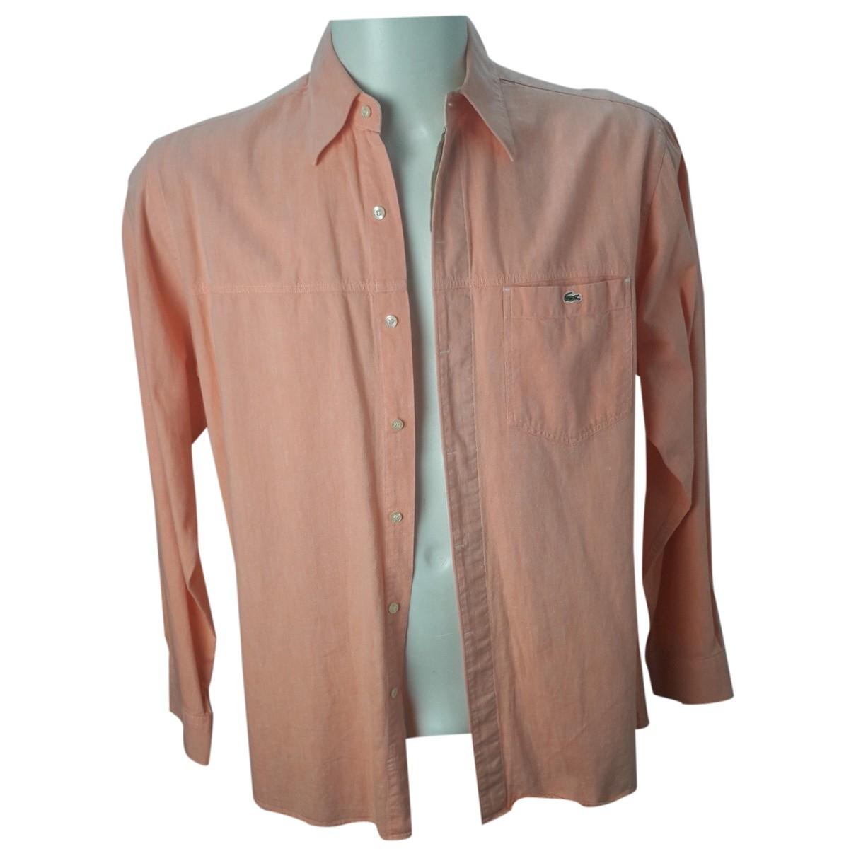 Lacoste \N Orange Cotton Shirts for Men 41 EU (tour de cou / collar)