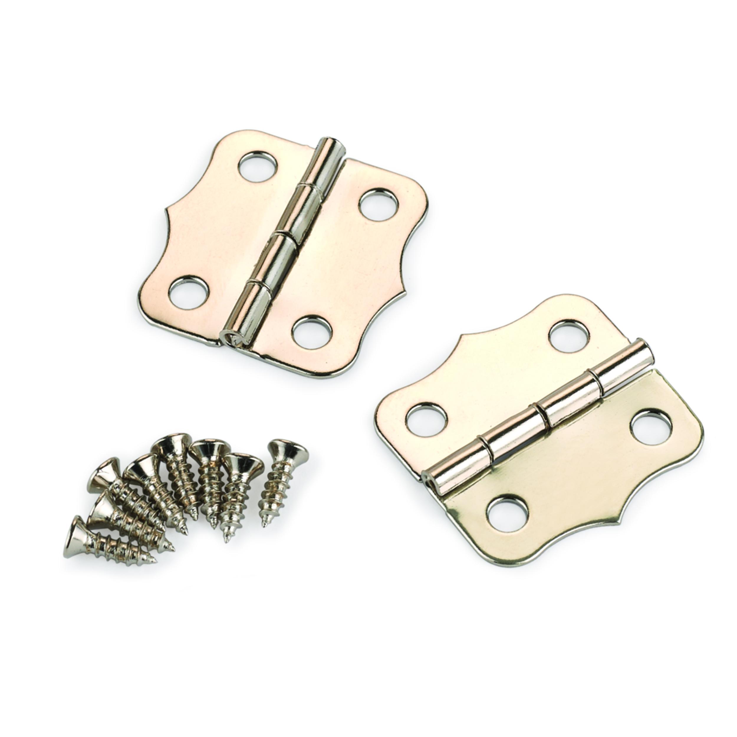 Small Box Nickel Plated Hinge 24mm x 24mm pair