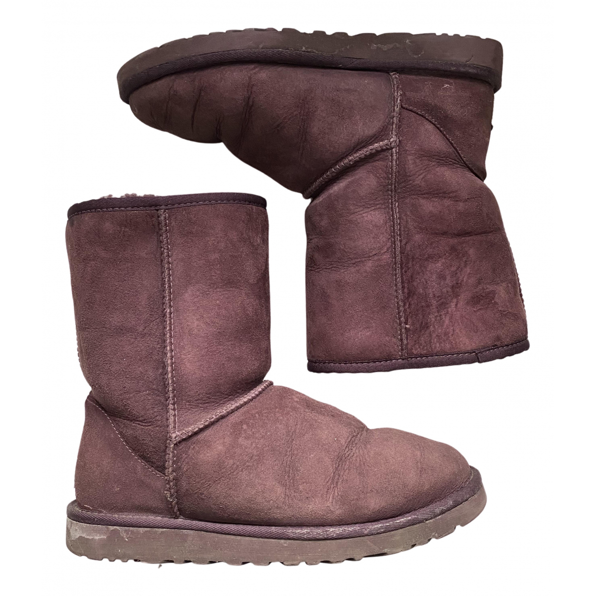 Ugg \N Stiefel in  Lila Synthetikpelz