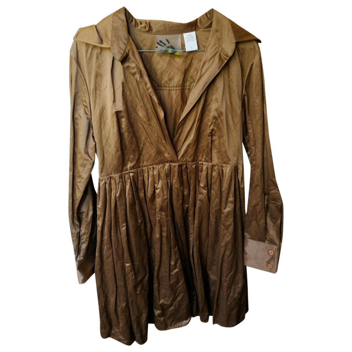 Norma Kamali \N Brown Cotton dress for Women L International