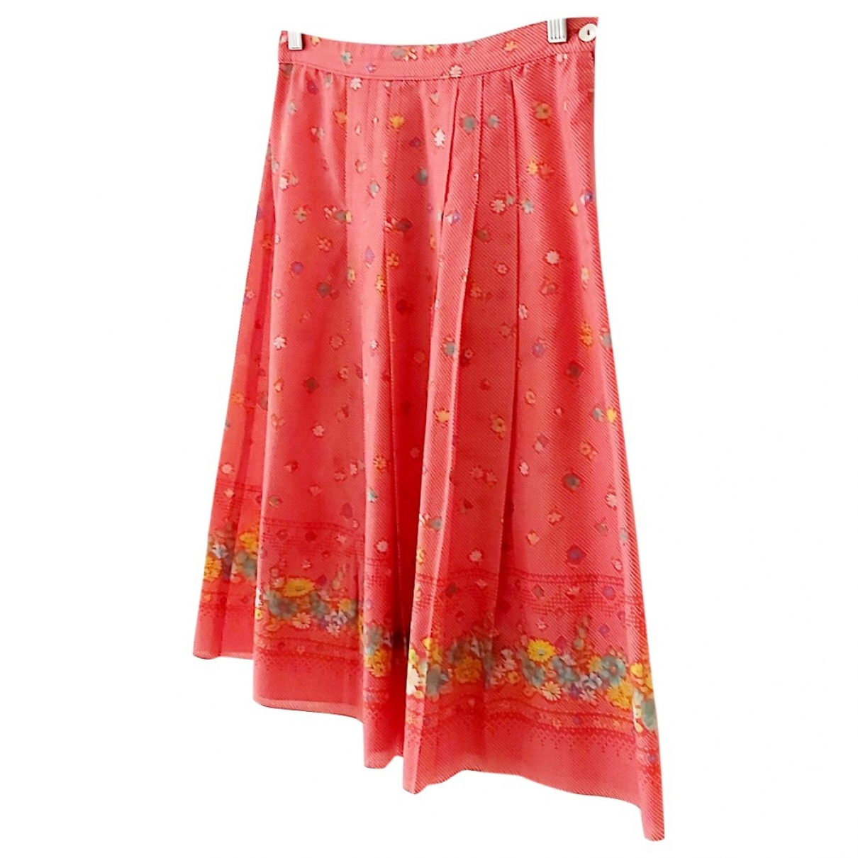 Non Signé / Unsigned Hippie Chic Red skirt for Women One Size International