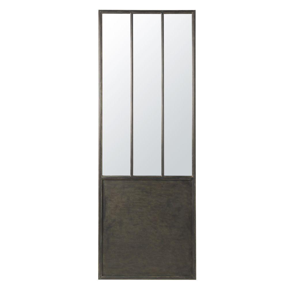 Spiegel mit schwarzem Metallrahmen 67x190