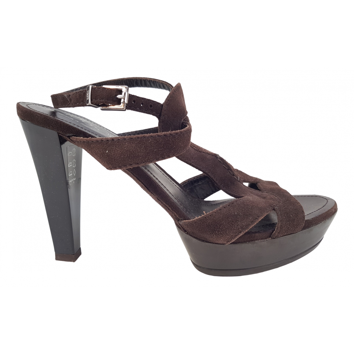Tod's N Brown Suede Sandals for Women 37 EU
