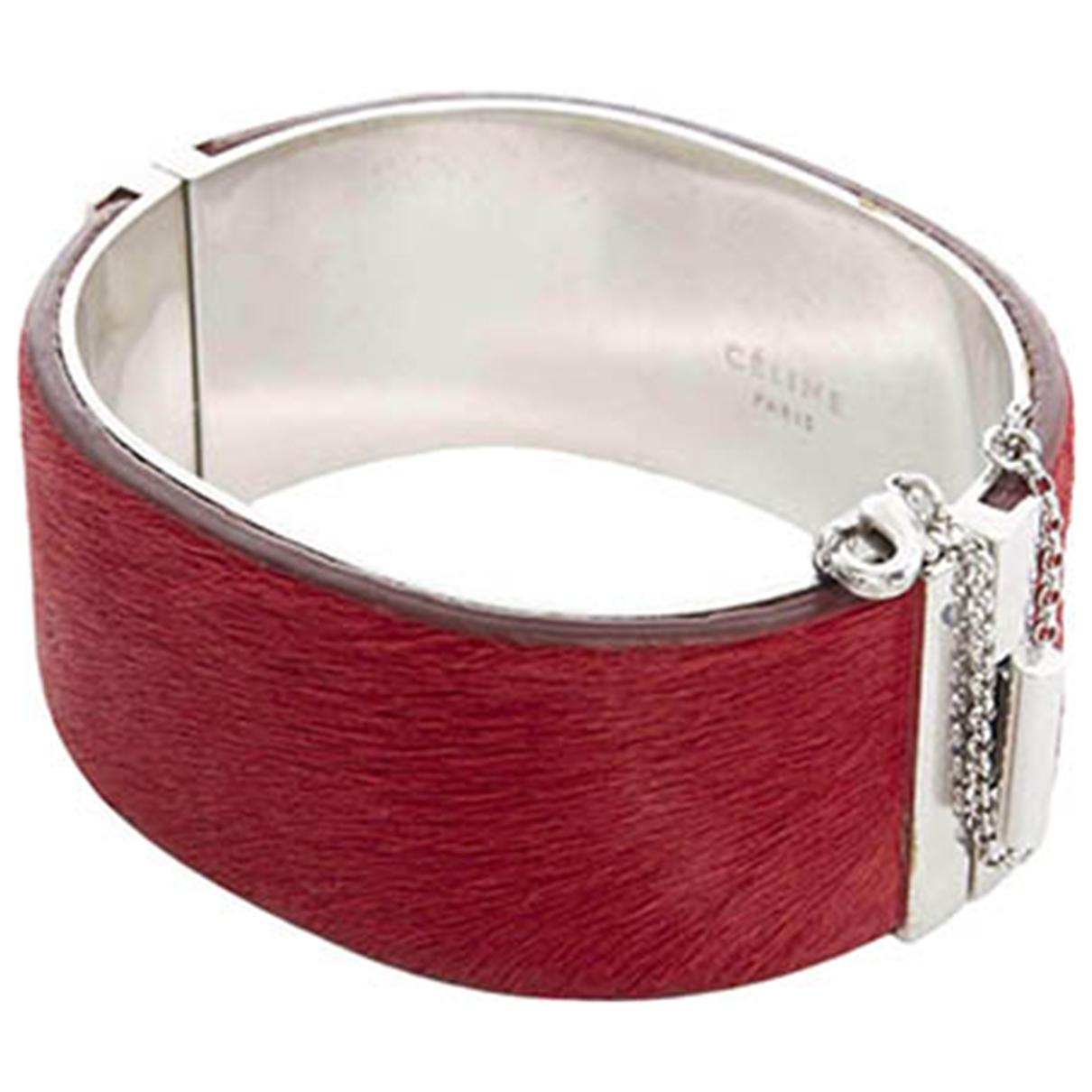 Celine - Bracelet Minimal pour femme en cuir - argente
