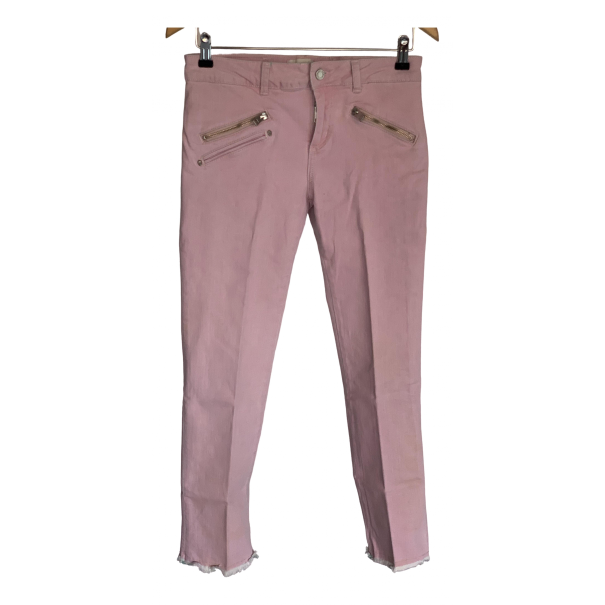 Zadig & Voltaire \N Pink Cotton - elasthane Jeans for Women 25 US