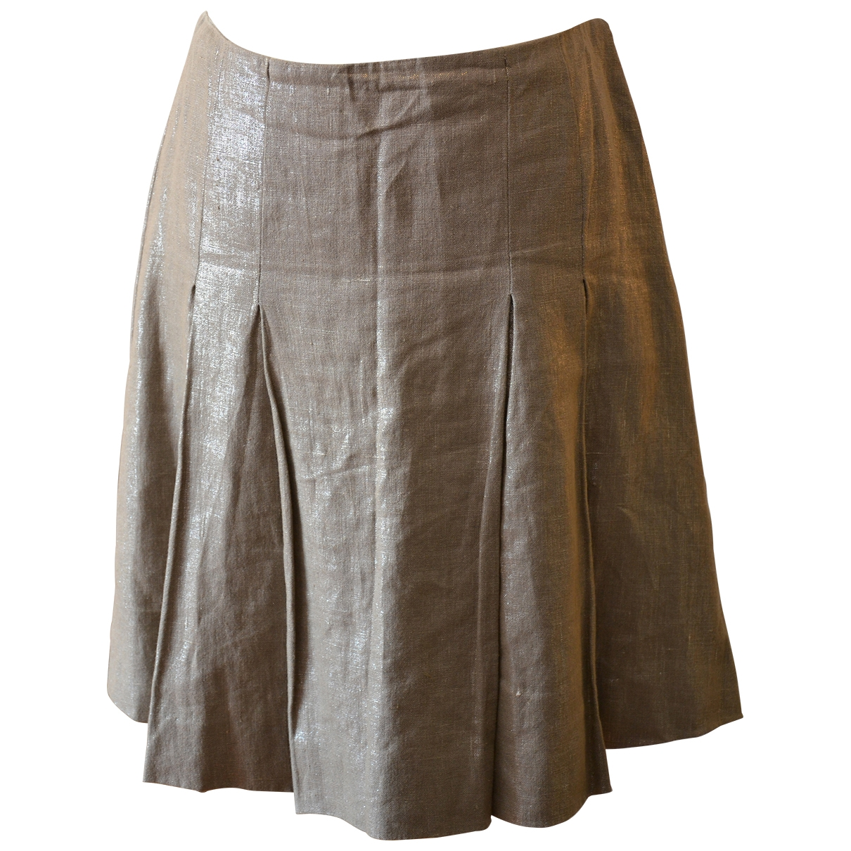 Etro \N Beige Linen skirt for Women 42 IT