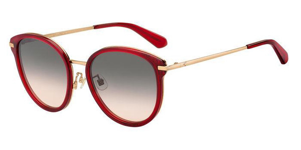 Kate Spade JONELLE/F/S Asian Fit C9A/FF Women's Sunglasses Red Size 56