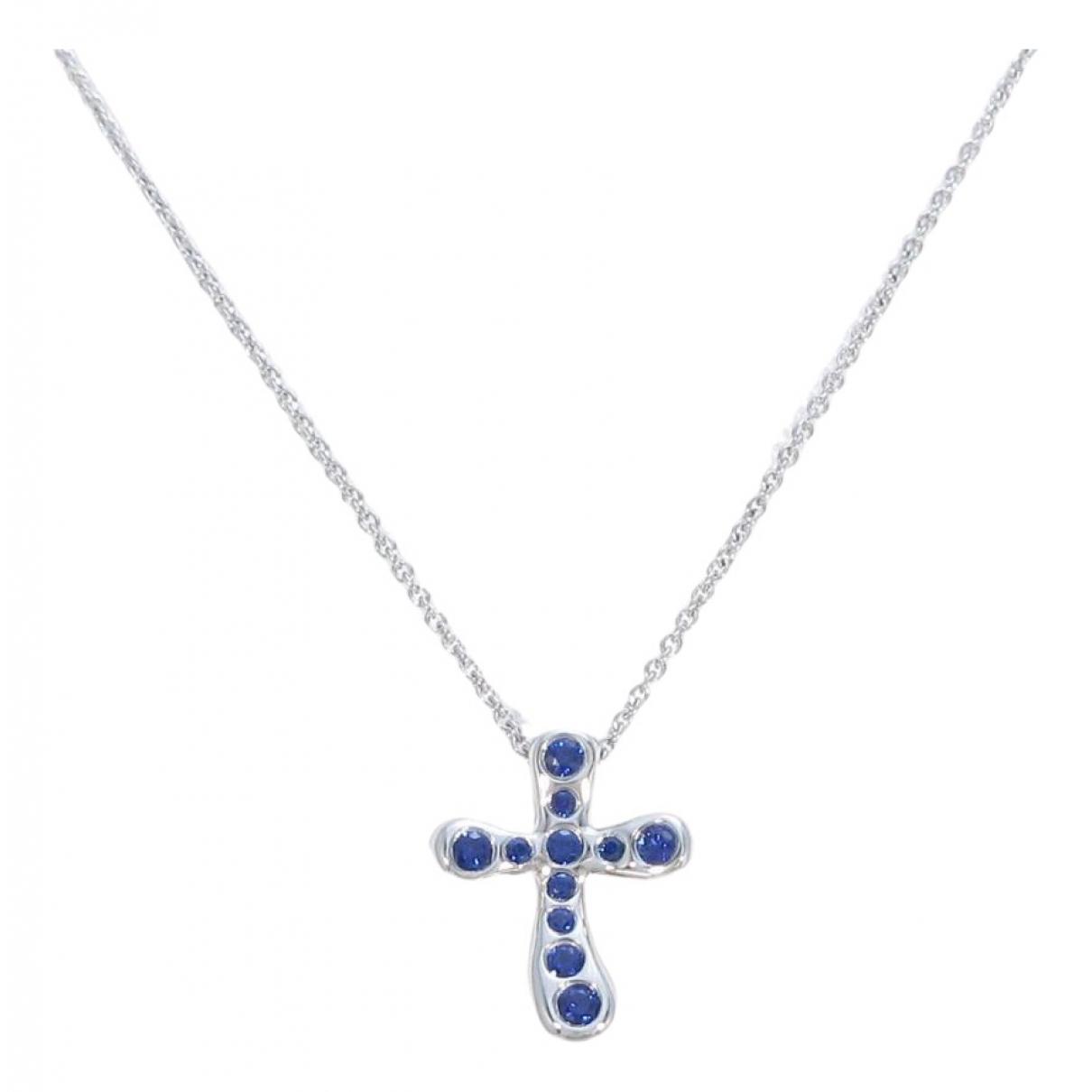 Tiffany & Co - Collier   pour femme en or blanc - bleu