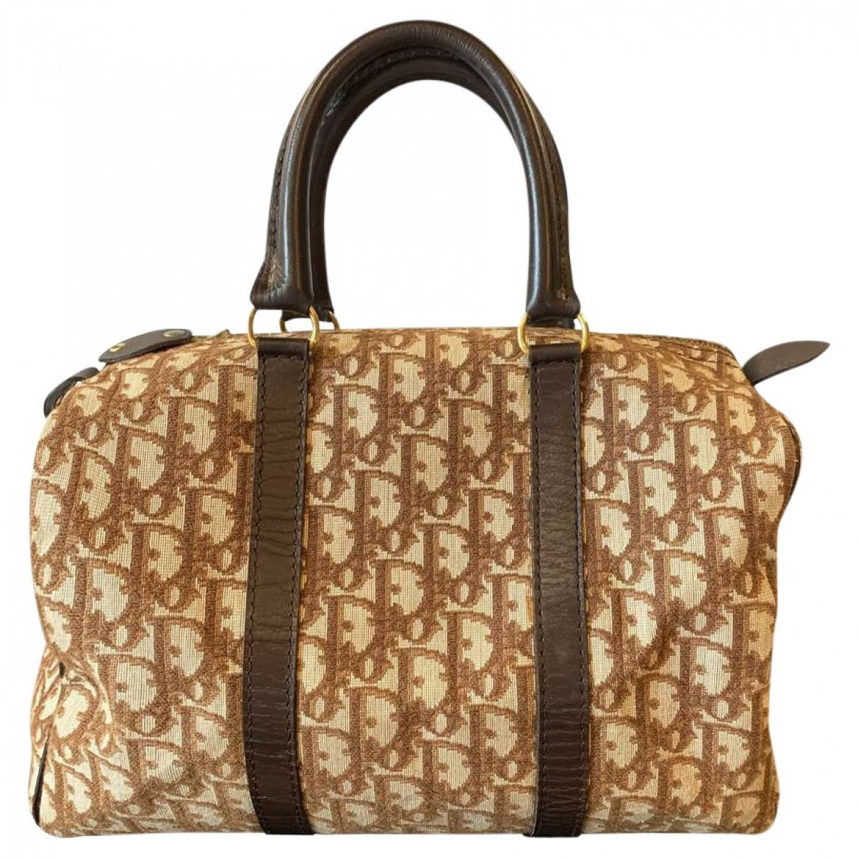 Dior \N Beige Cloth Travel bag for Women \N