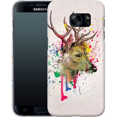 Samsung Galaxy S7 Smartphone Huelle - Splatter Deer von Mark Ashkenazi